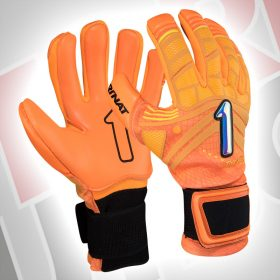 Guantes de arquero The Boss Alpha en color naranja de la marca Rinat