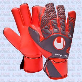 Guantes de arquero Uhlsport Aerored Soft Hn en color rojo